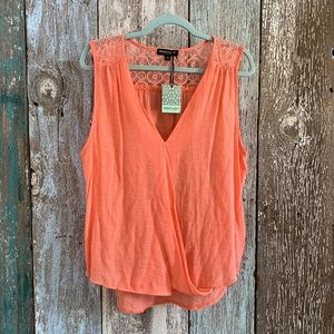 About A Girl Tank Top Coral XL